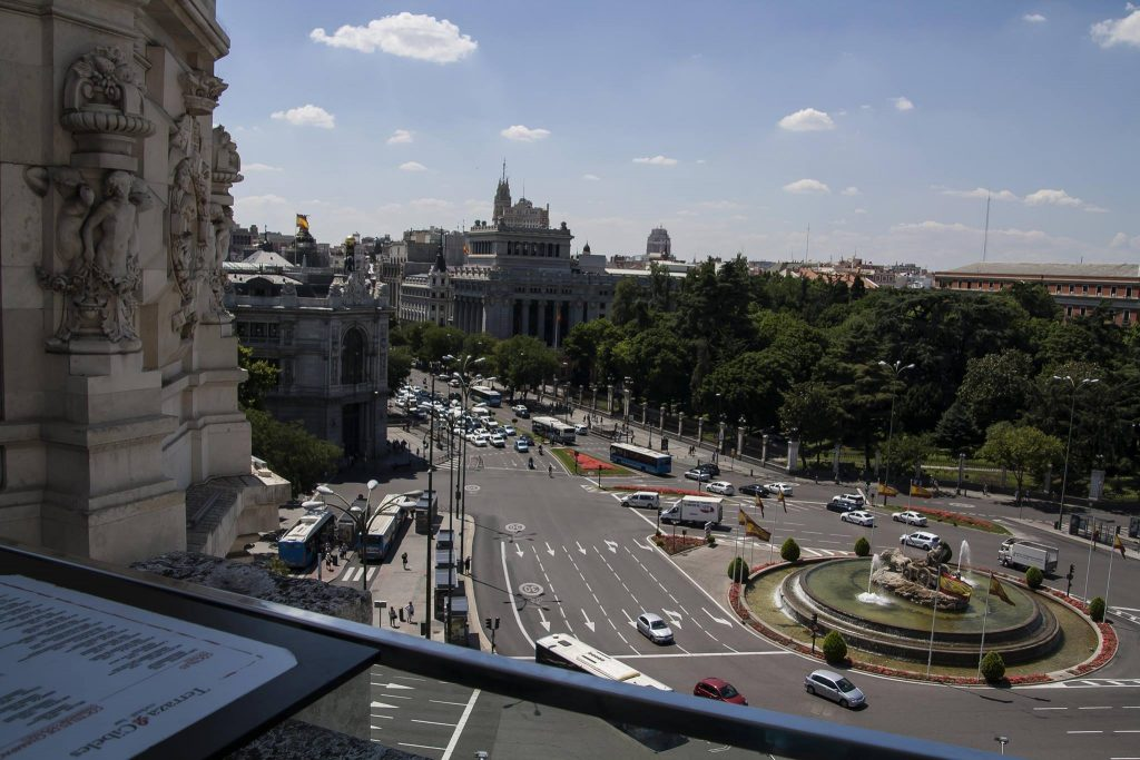 Palacio de Comunicaciones Madrid uitzicht