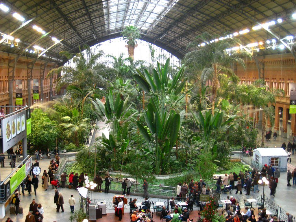 Treinstation Atocha Madrid