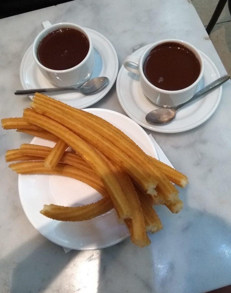 Chocolatería San Ginés Madrid churros