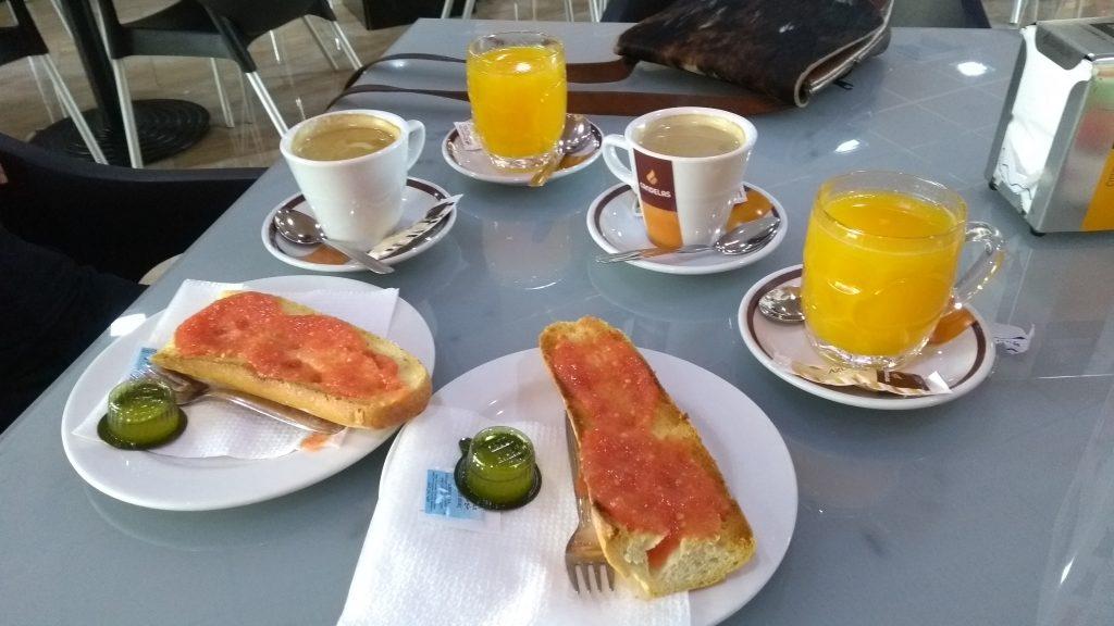 Ontbijt Valencia Spanje