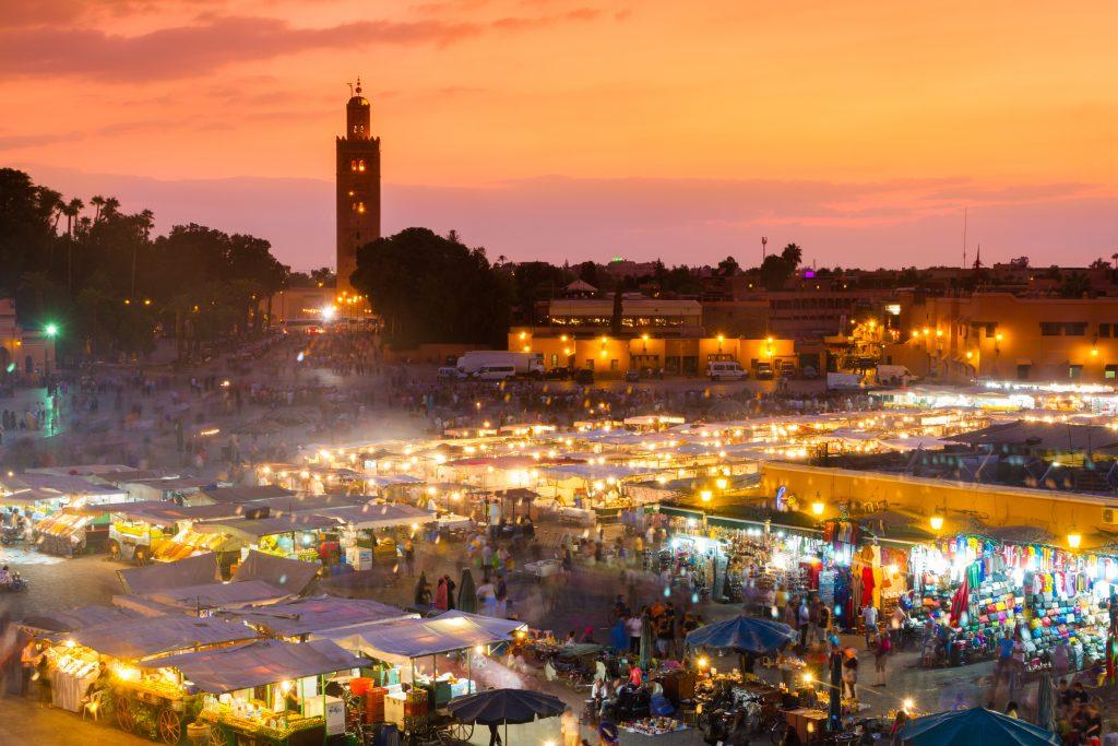 5 exotische en vooral betaalbare vakanties om de winter te overleven Marrakesh, Morocco.